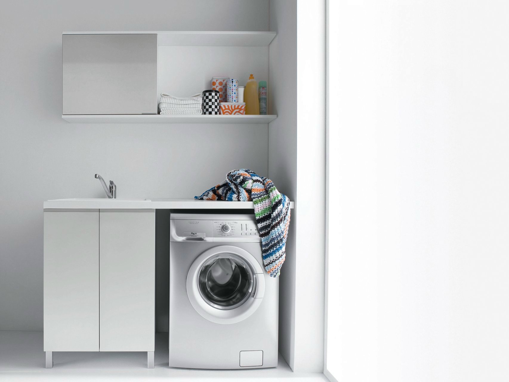 Idrobox laundry room cabinet for washing machine by birex - Machine a laver sous lavabo ...