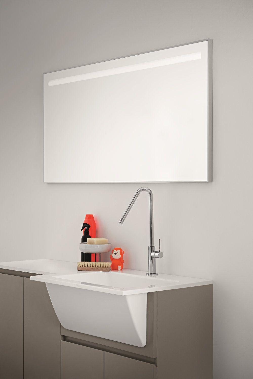 Idrobox armoire de buanderie avec miroir by birex for Meuble evier buanderie