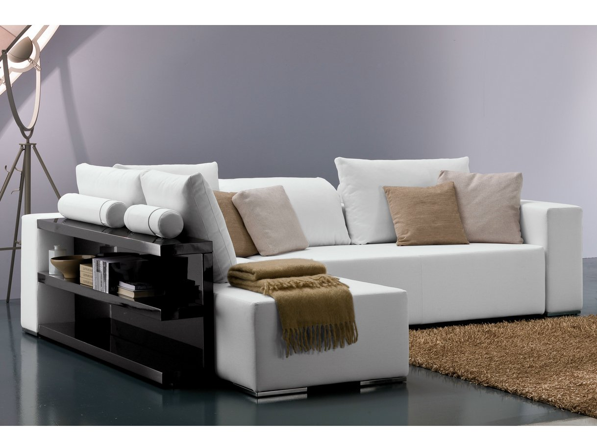 popper sofa with integrated magazine rack by bontempi casa
