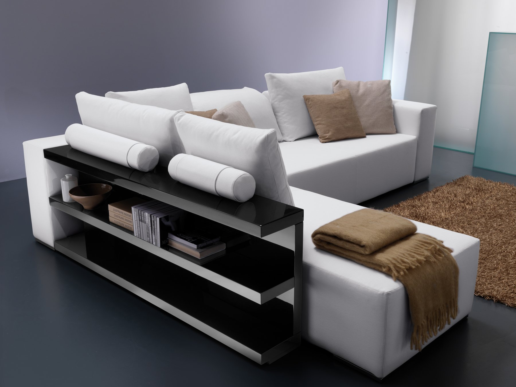 popper canap avec porte revues int gr by bontempi casa design lino codato. Black Bedroom Furniture Sets. Home Design Ideas