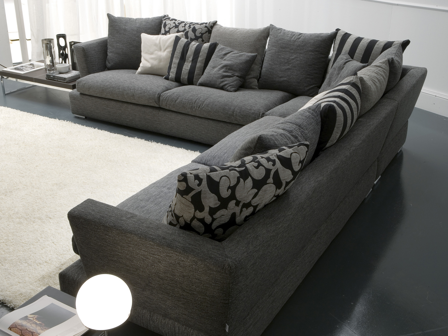 Upholstered fabric sofa rodeo drive corner sofa sofas for Bontempi divani