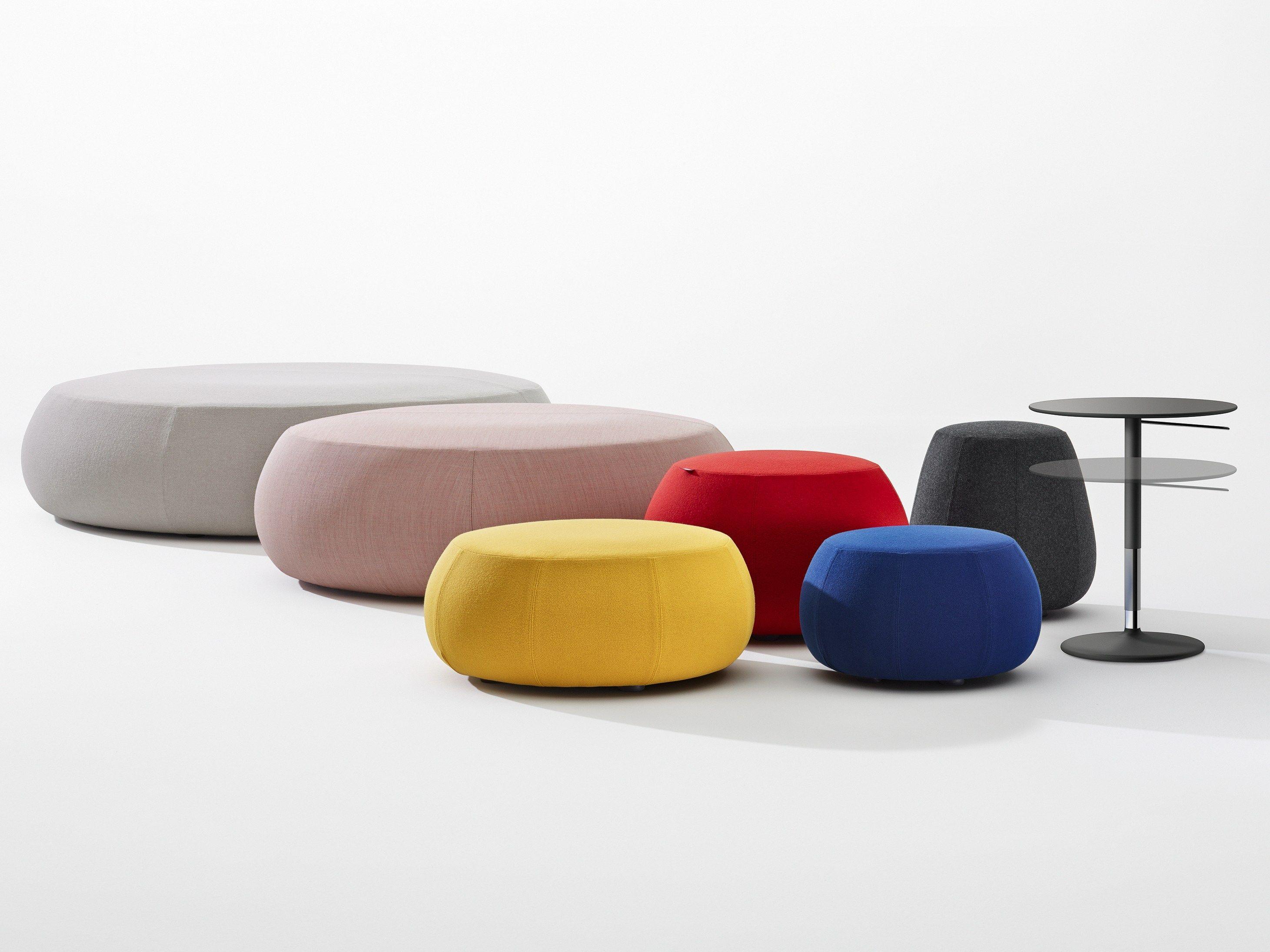 upholstered pouf pix mini by arper design ichiro iwasaki. Black Bedroom Furniture Sets. Home Design Ideas