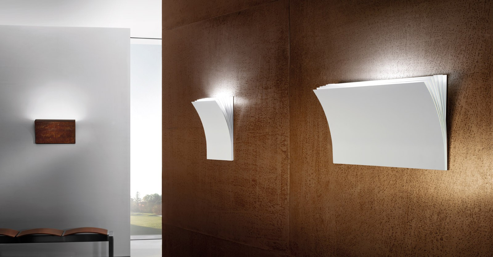 POLIA Applique murale en Corten™ by AXO LIGHT design Manuel Vivian
