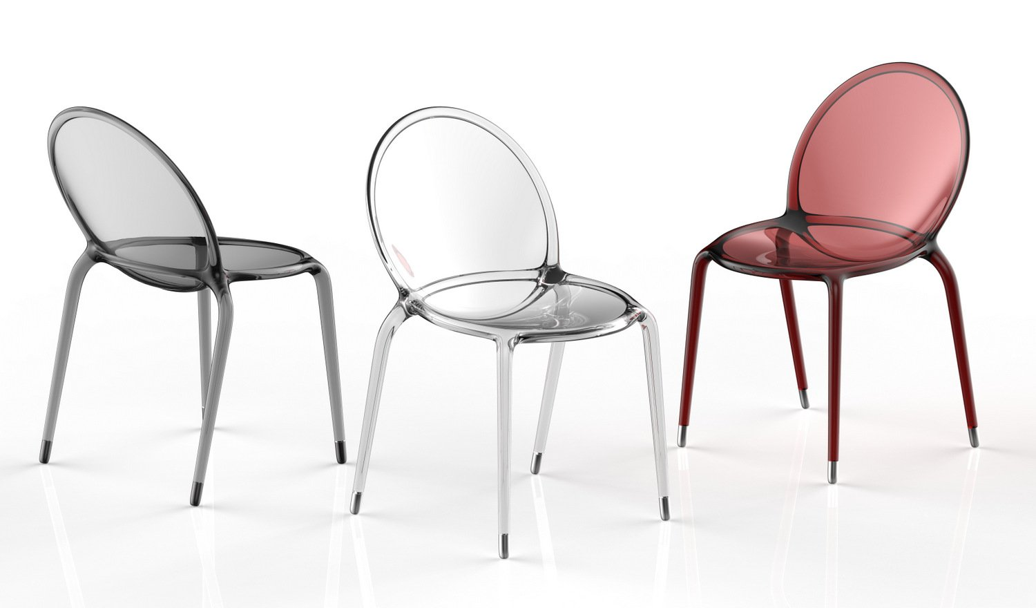 Chaise empilable en polycarbonate loop by roche bobois design c dric ragot - Chaise polycarbonate italie ...