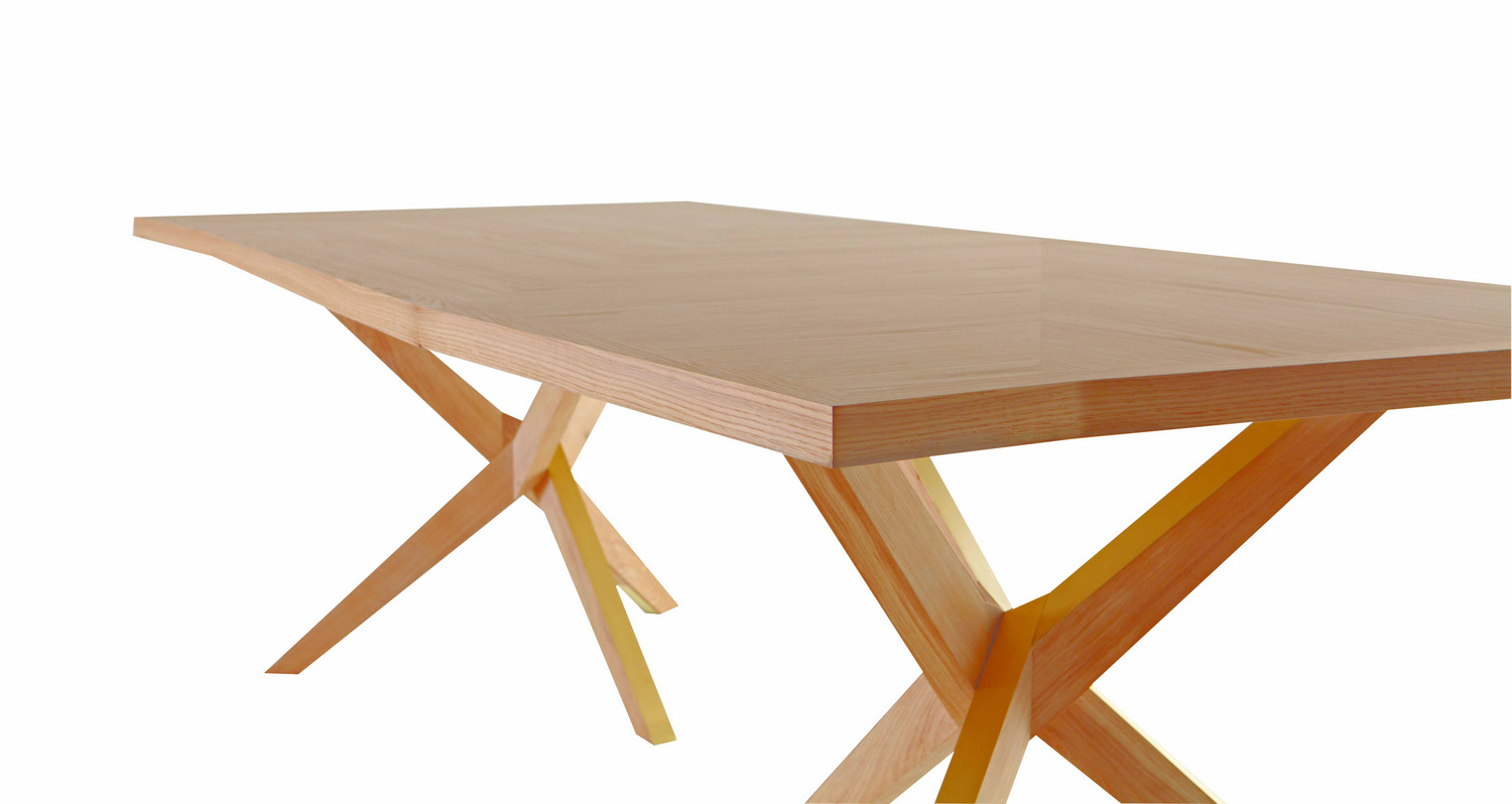 Rectangular wooden table jane by roche bobois design christophe delcourt - Table salle a manger roche bobois ...