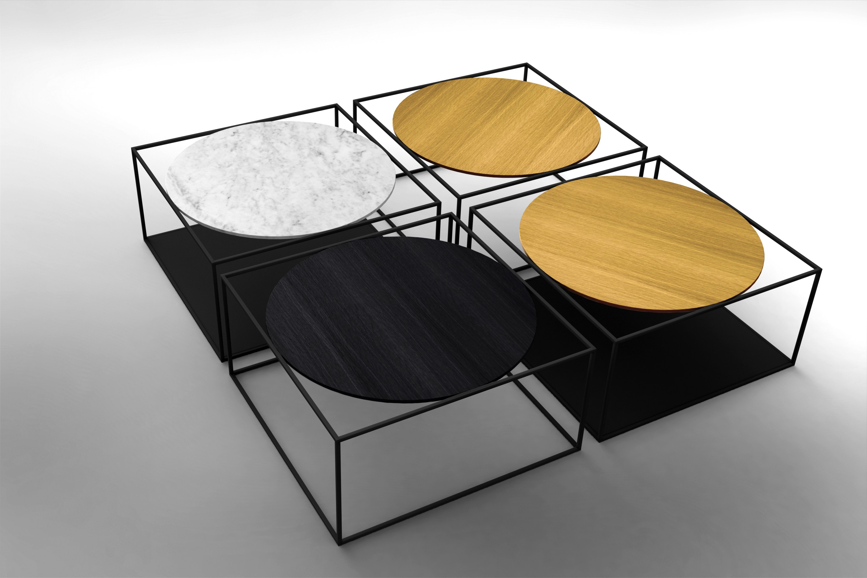 G3 wooden coffee table by roche bobois design johan lindst n - Roche et bobois table ...