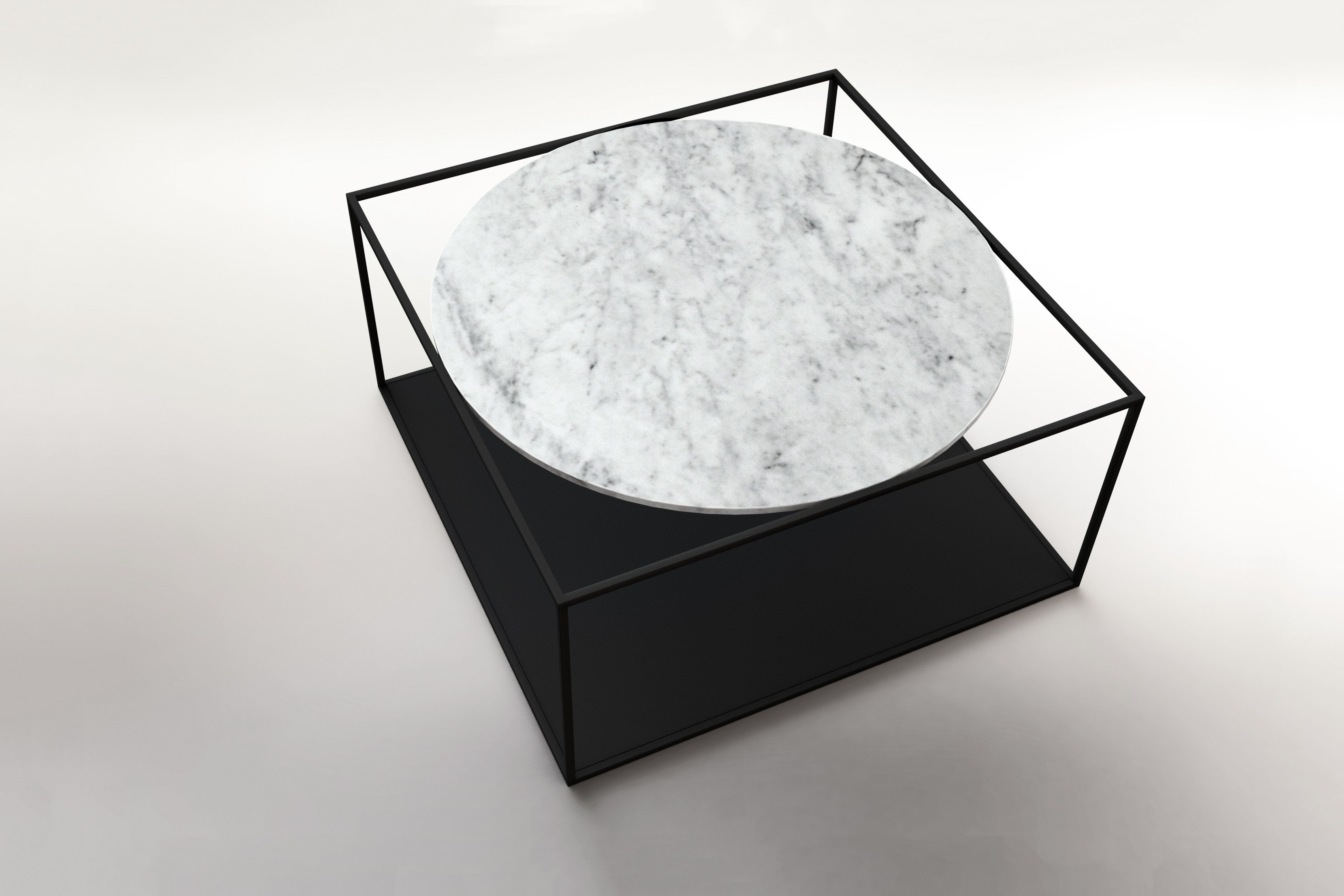 G3 marble coffee table by roche bobois design johan lindst n for Table basse scandinave marbre