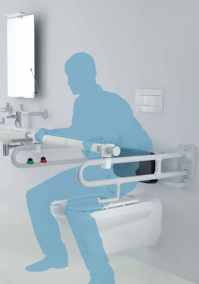 Sostegno ribaltabile con doppio pulsante elettrico - Ponte giulio bagno disabili ...