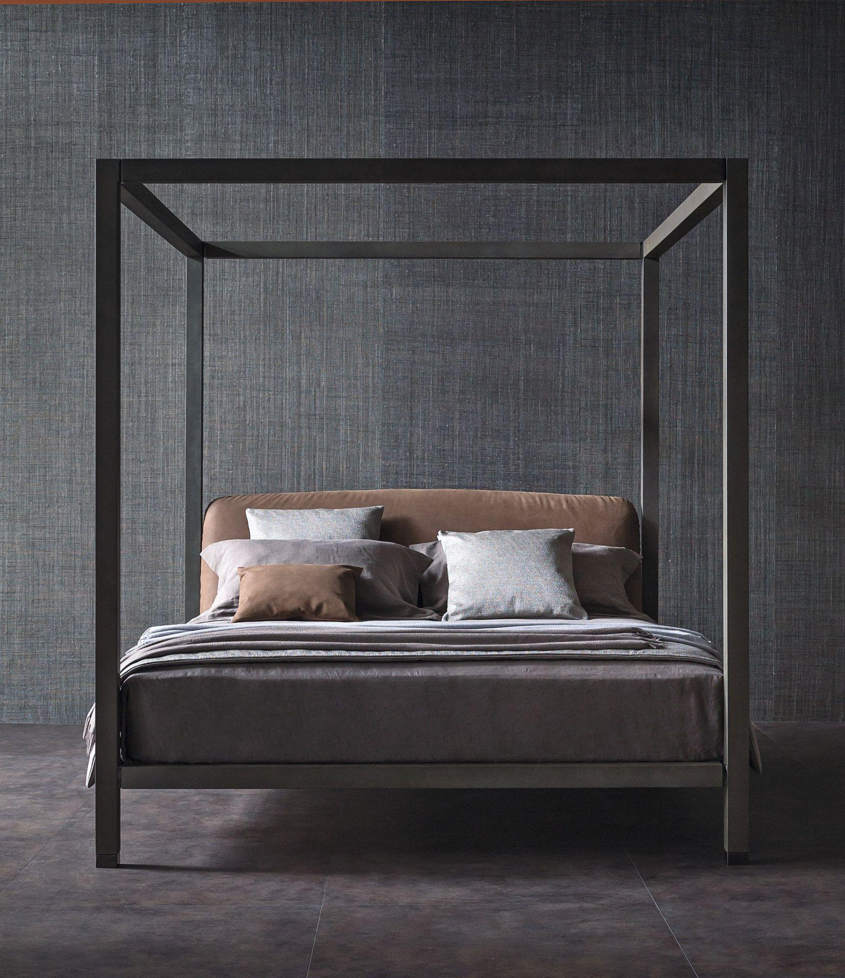 Letto in legno con testiera imbottita letto a baldacchino - Testiera letto in legno ...