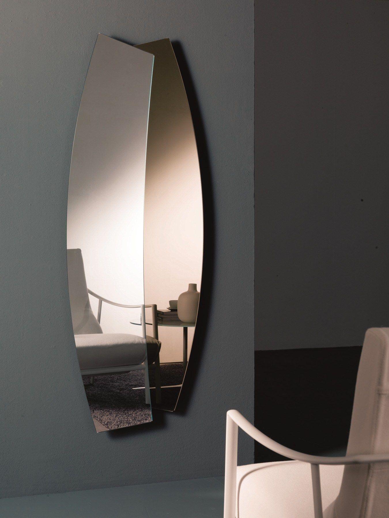 Specchio in stile moderno a parete double by bontempi casa - Specchi particolari da parete ...
