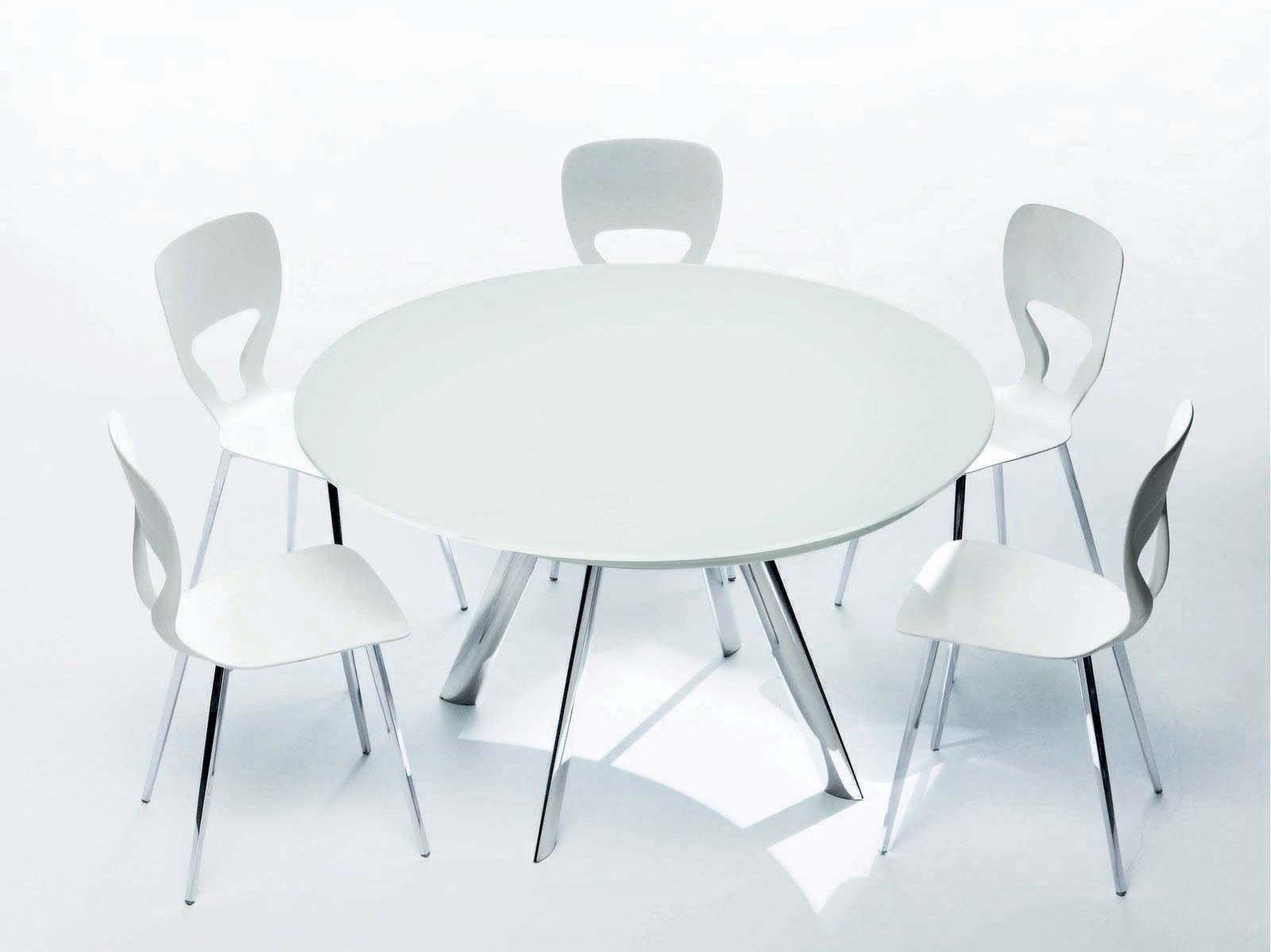 Mesa extensible de cristal giro mesa redonda colecci n - Mesa redonda de cristal ...