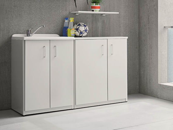 braccio di ferro laundry room cabinet with sink by birex. Black Bedroom Furniture Sets. Home Design Ideas