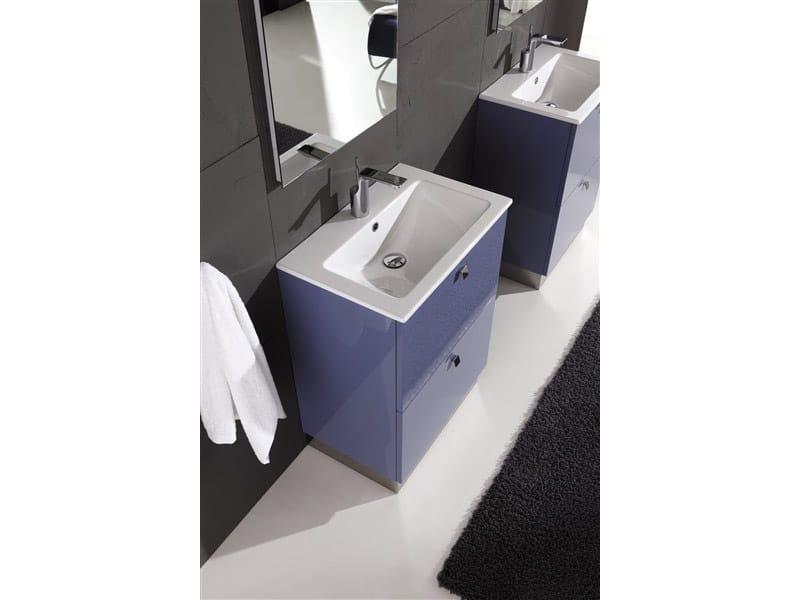Mobile lavabo laccato con cassetti genius g231 by legnobagno - Legnobagno prezzi ...