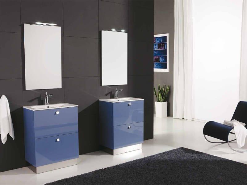Mobile lavabo laccato con cassetti GENIUS G231 by LEGNOBAGNO