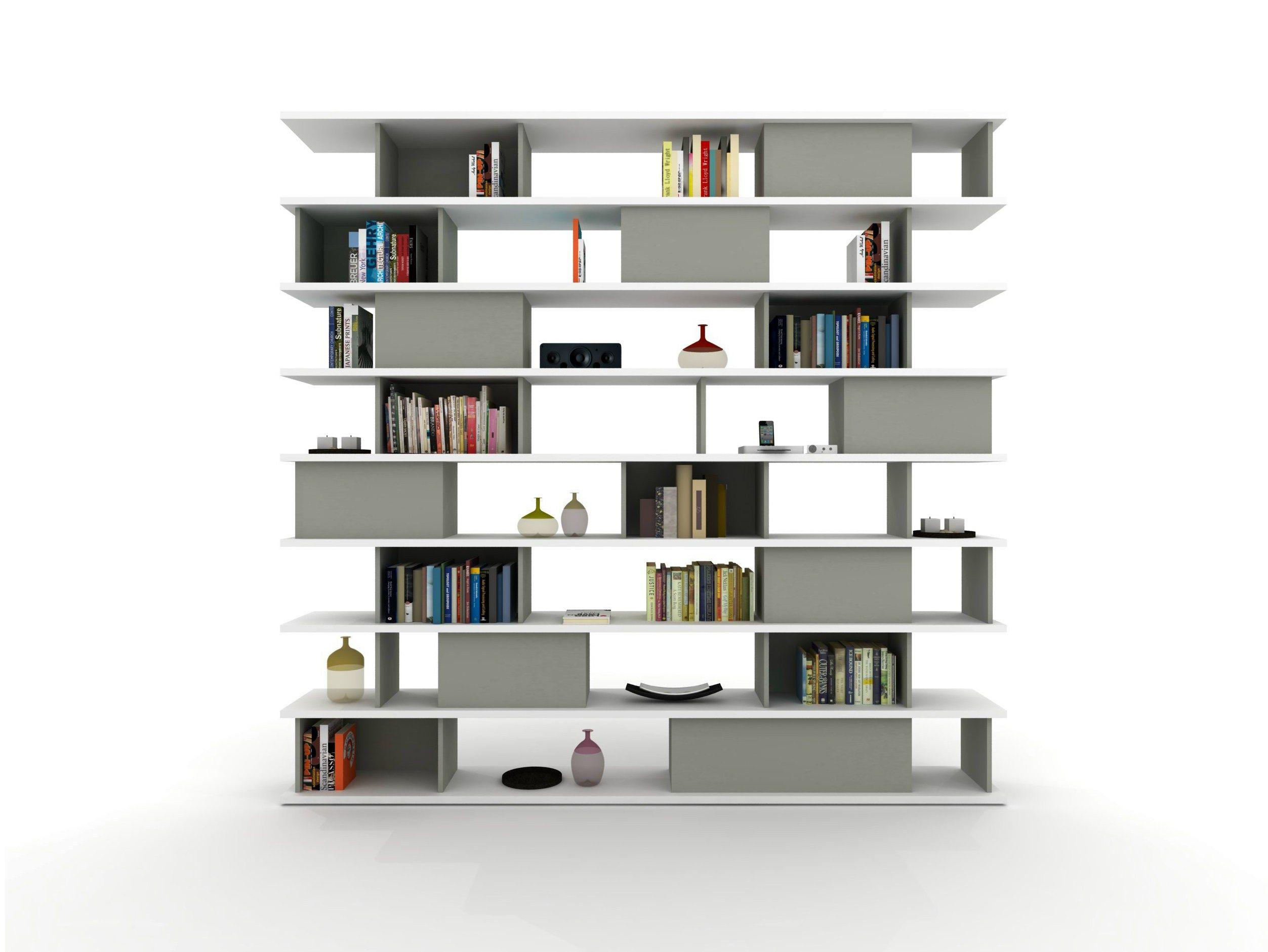 Libreria a giorno modulare z401 by zalf for Libreria modulare