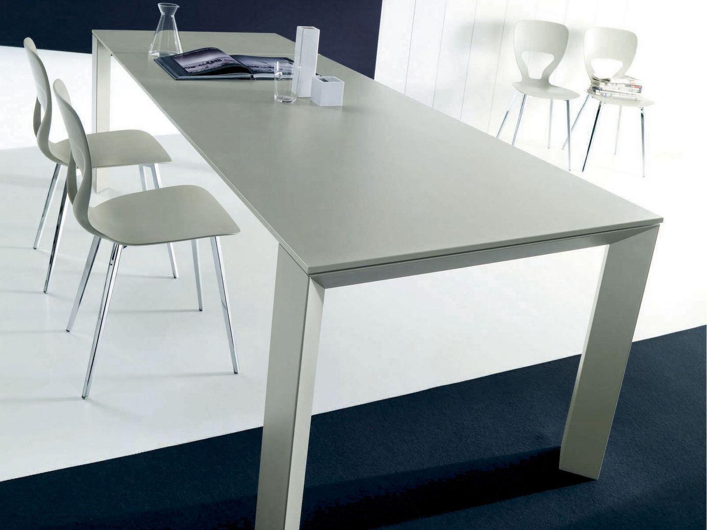 Tavolo allungabile rettangolare new edro by bontempi casa for Tavolo rettangolare design