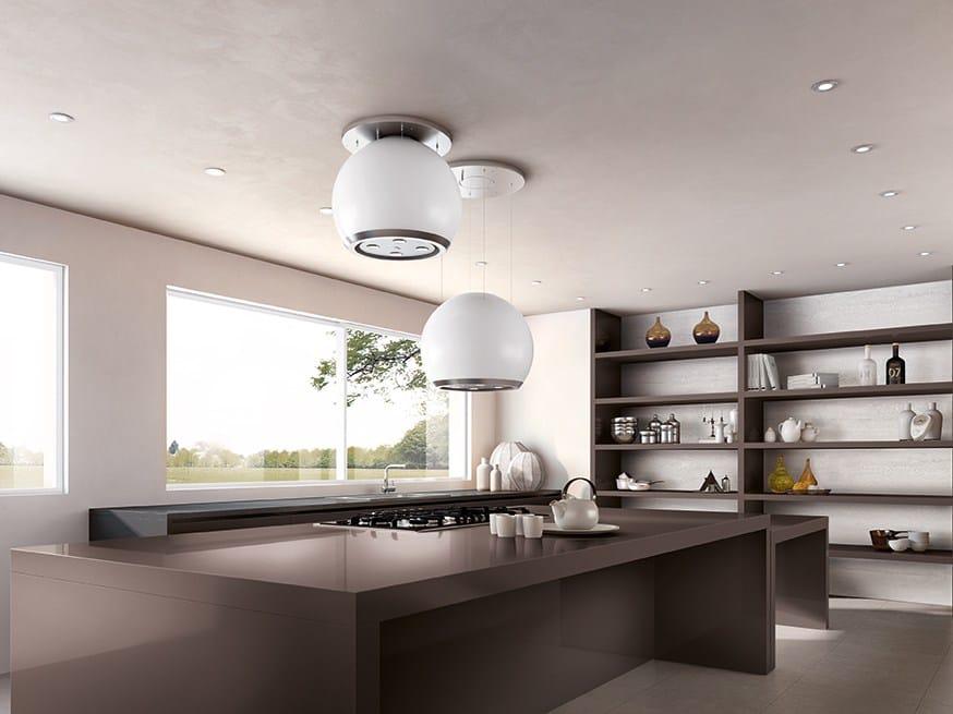 Cappa ad isola in policarbonato con illuminazione integrata ARKEA ...
