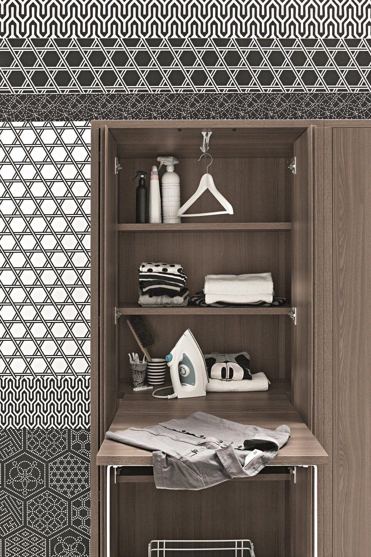 Acqua e sapone mobile lavanderia a colonna by birex design for Muebles lavanderia casa
