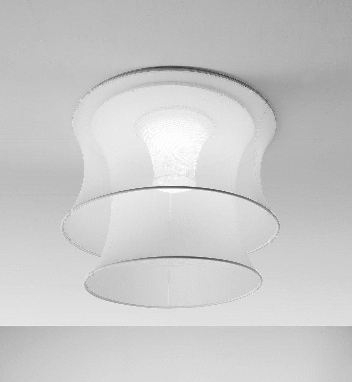 fluorescent fabric ceiling lamp euler by axo light design cambi scatena turini architetti. Black Bedroom Furniture Sets. Home Design Ideas