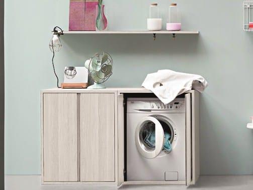 Acqua e sapone mueble para lavander a para lavadora by for Mueble para lavadora