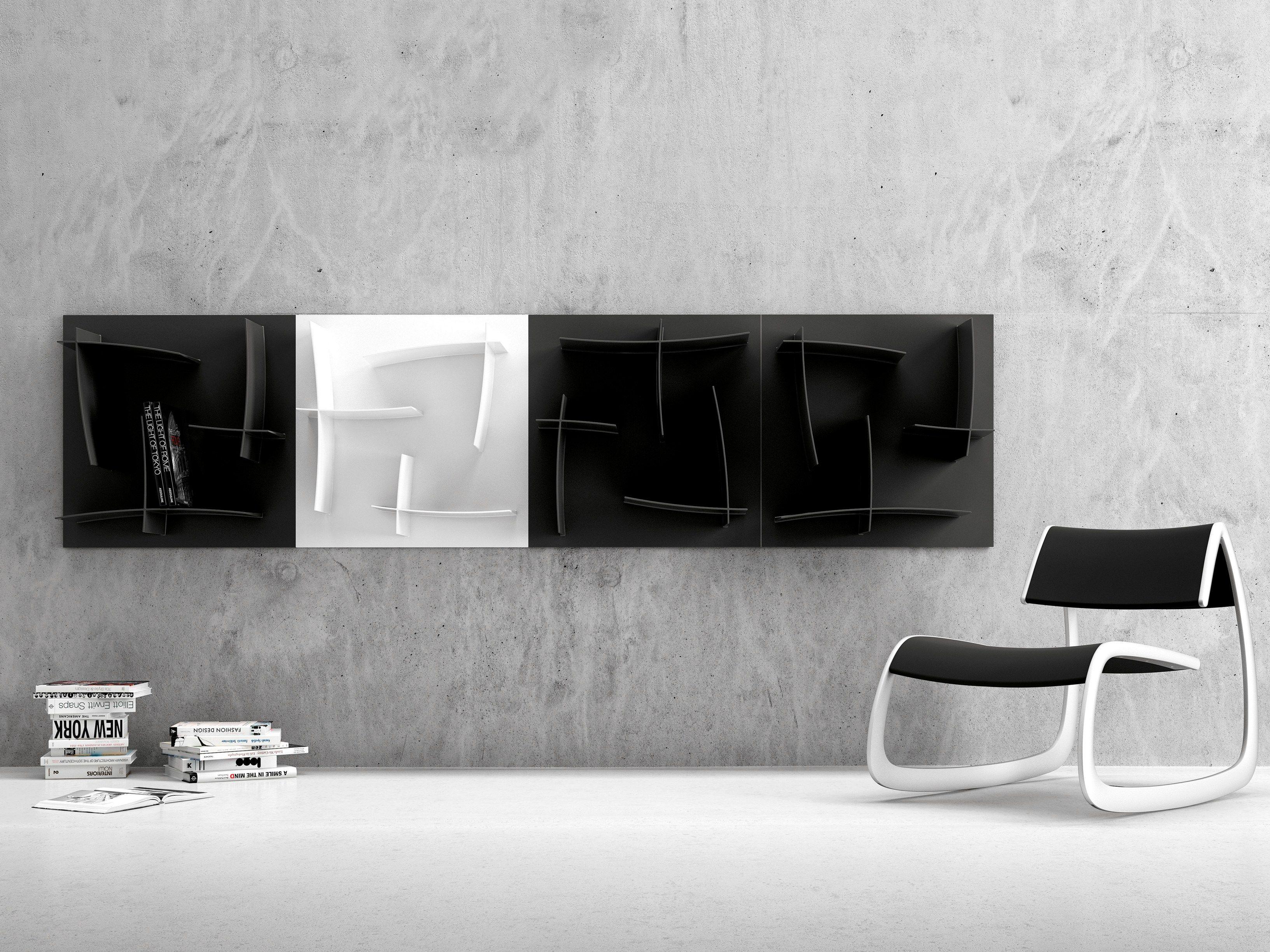 Pouf Poggiapiedi Girevole Beetle Infiniti Design : Libreria a parete modulare arigatÒ infiniti by omp group