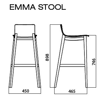 Wooden Stool Emma Collection By Infiniti By Omp Group