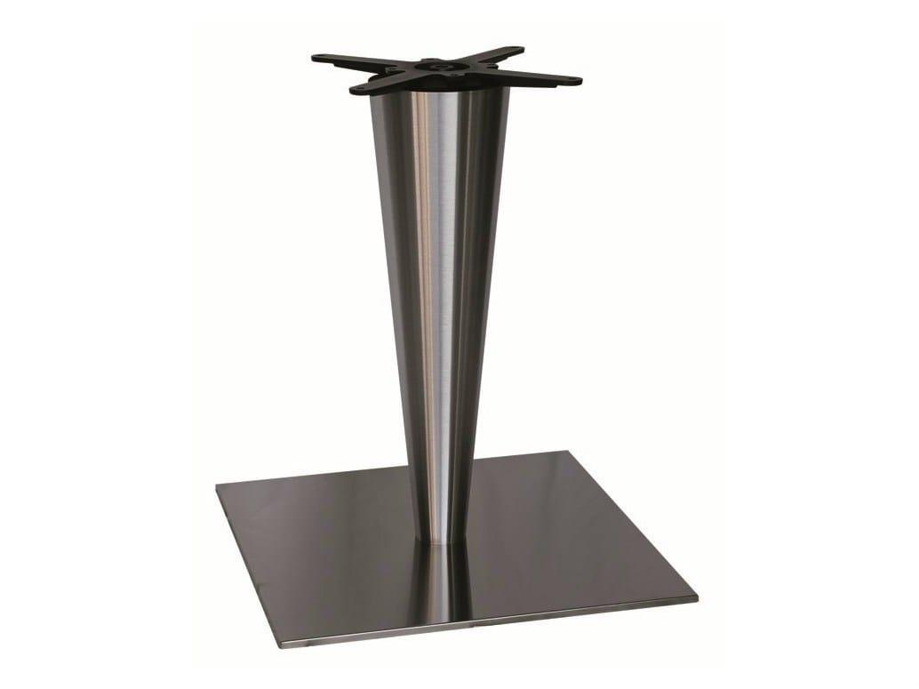 Base per tavoli in acciaio inox sligel 66 x by vela for Vela arredamenti