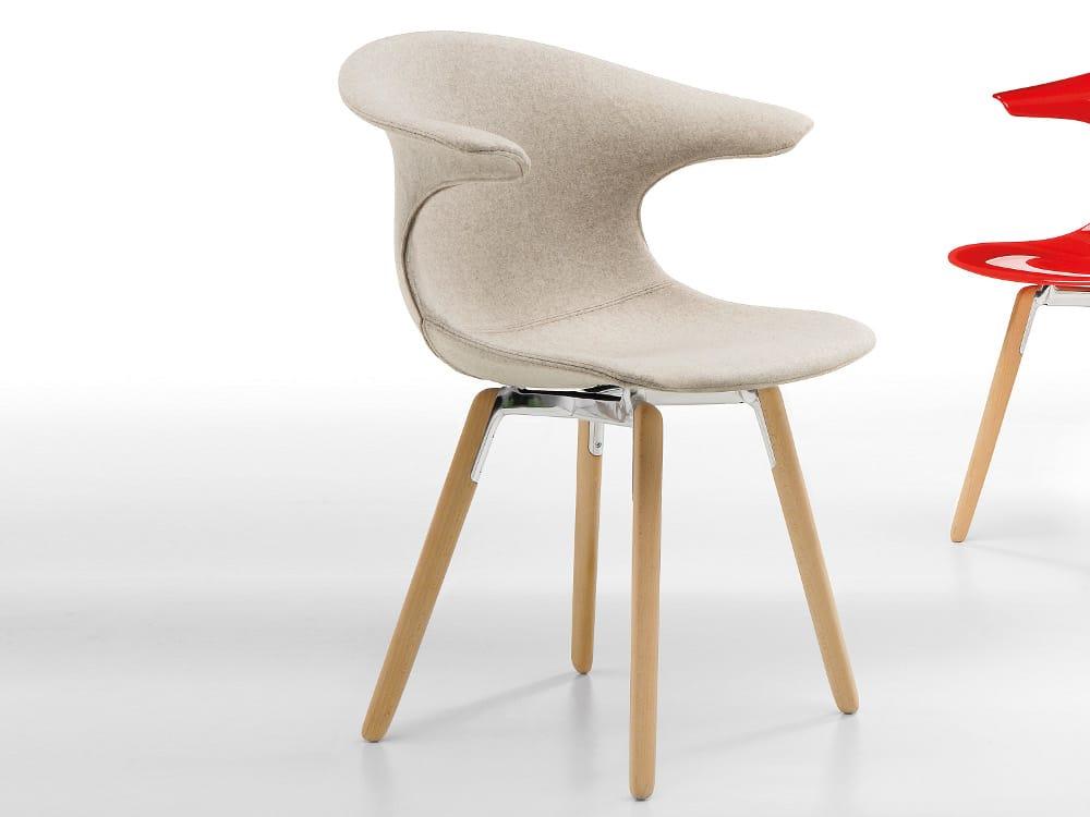Pouf Poggiapiedi Girevole Beetle Infiniti Design : Sedia imbottita con gambe in legno loop