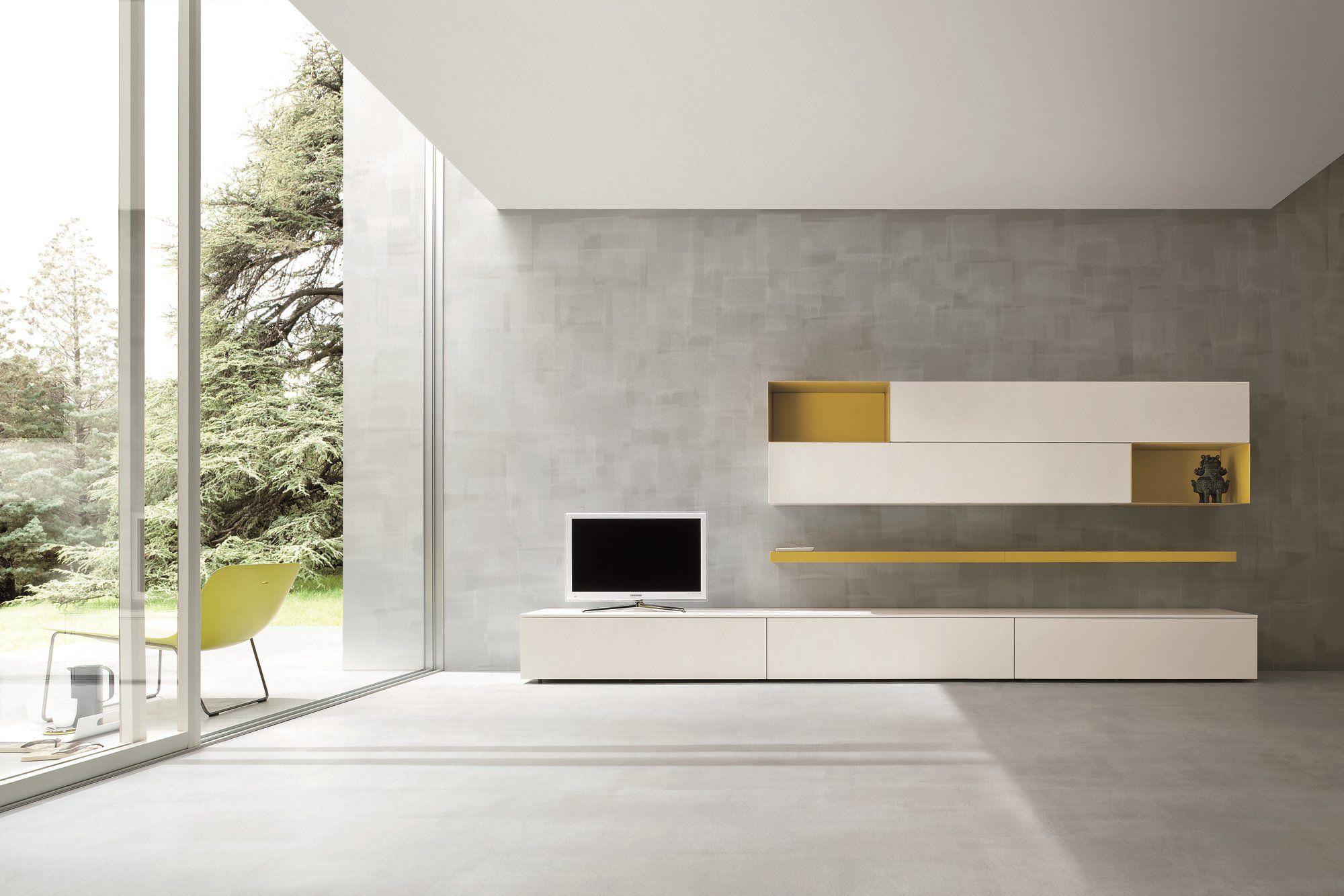 sectional tv wall system slim 2 by dall agnese design imago design massimo rosa. Black Bedroom Furniture Sets. Home Design Ideas