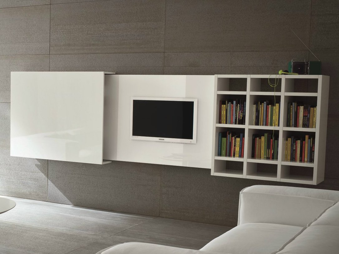 Meuble tv mural escamotable SLIM 10 by Dall'Agnese design ...