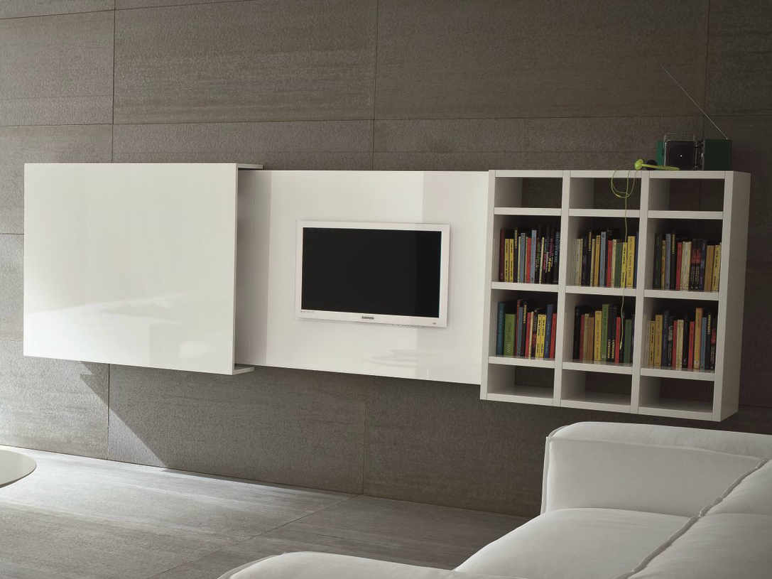 Meuble Tv Motorise Escamotable Maison Design Hosnya Com # Meuble Pour Tv Escamotable