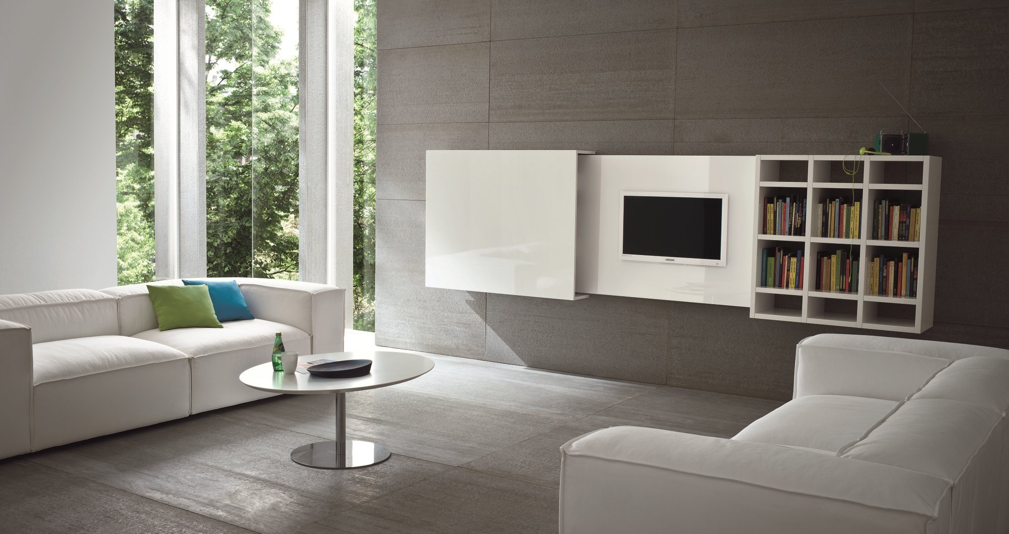 Mobile TV sospeso a scomparsa SLIM 10 by Dall'Agnese design Imago ...