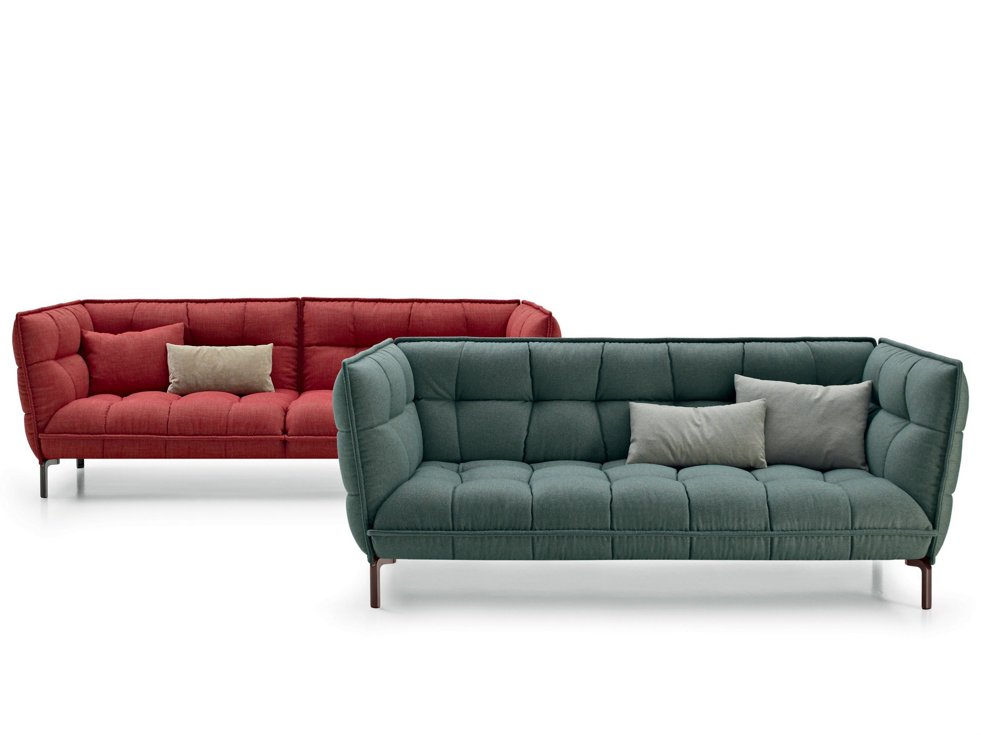 Tufted fabric sofa husk sofa by b b italia design patricia for B en b italia