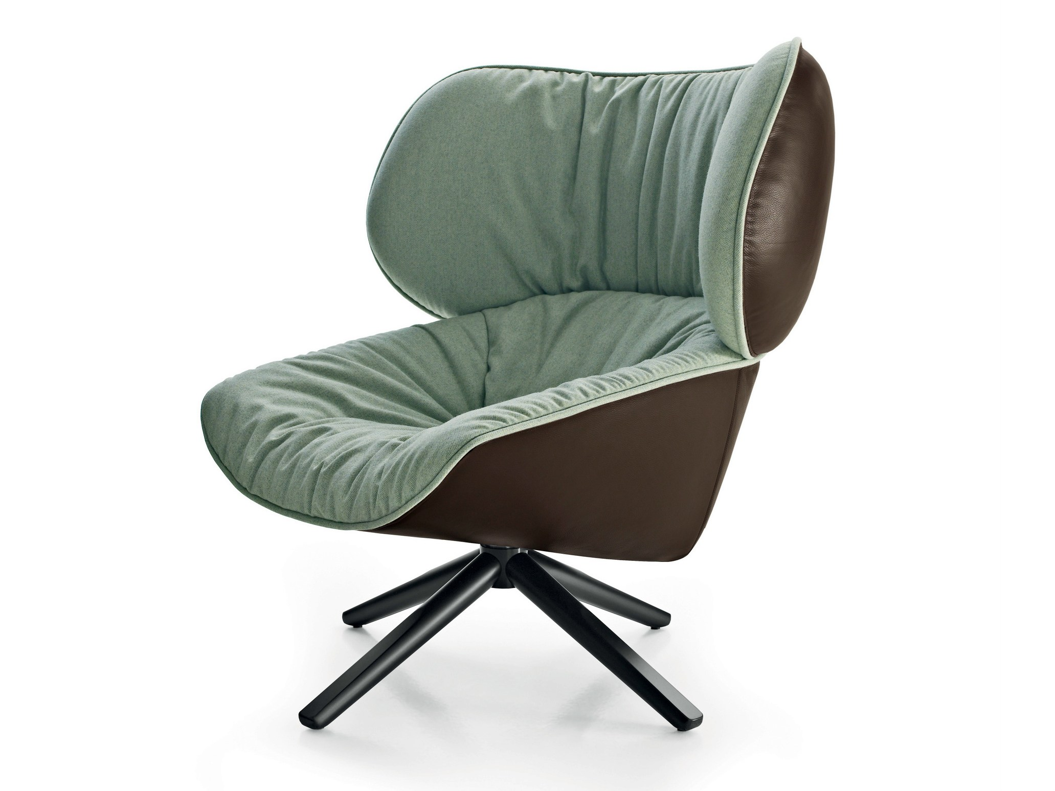 Swivel upholstered fabric armchair TABANO by B&B Italia ...