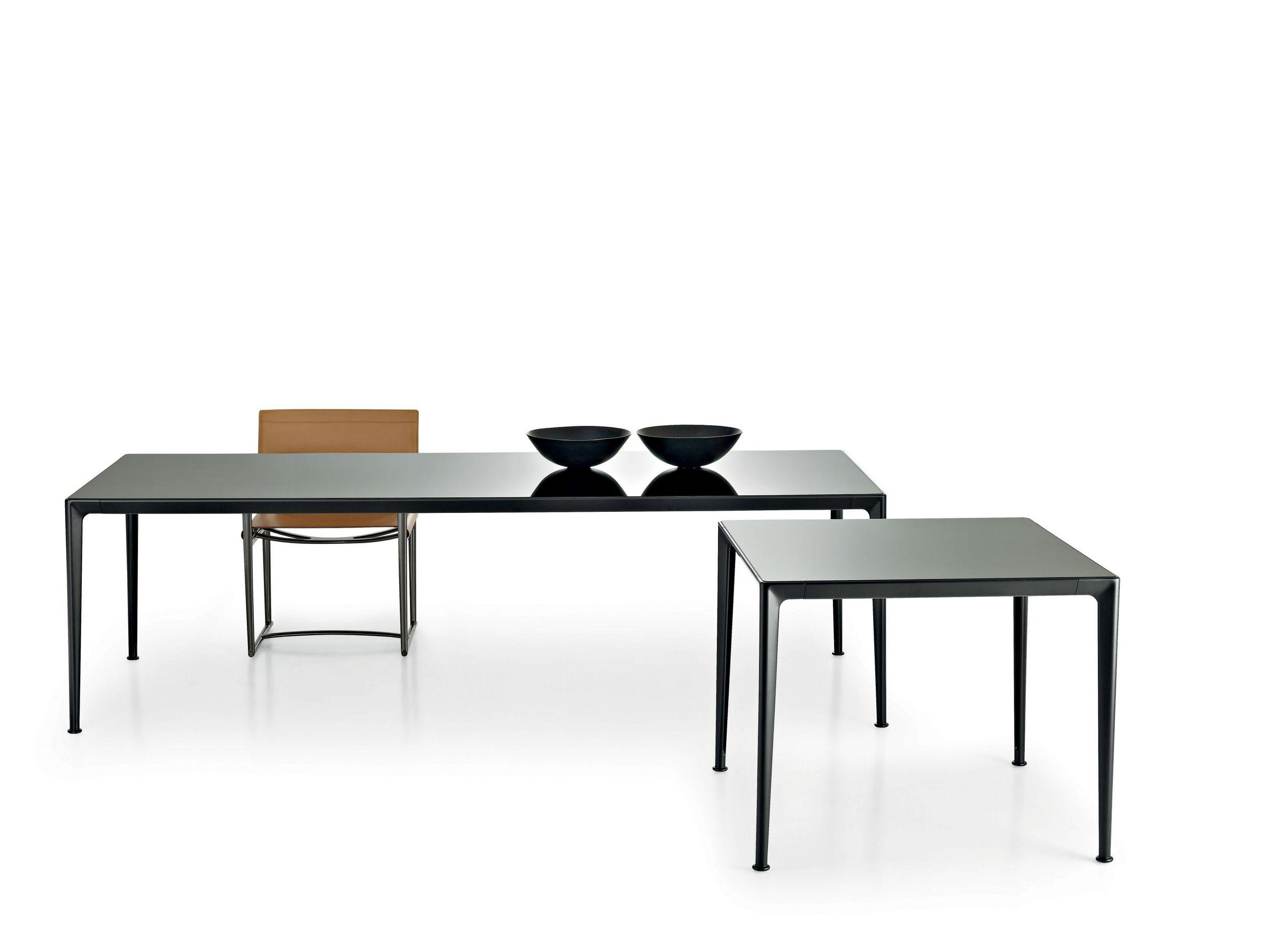 Tavolo Quadrato In Vetro Collezione Mirto Indoor By B B