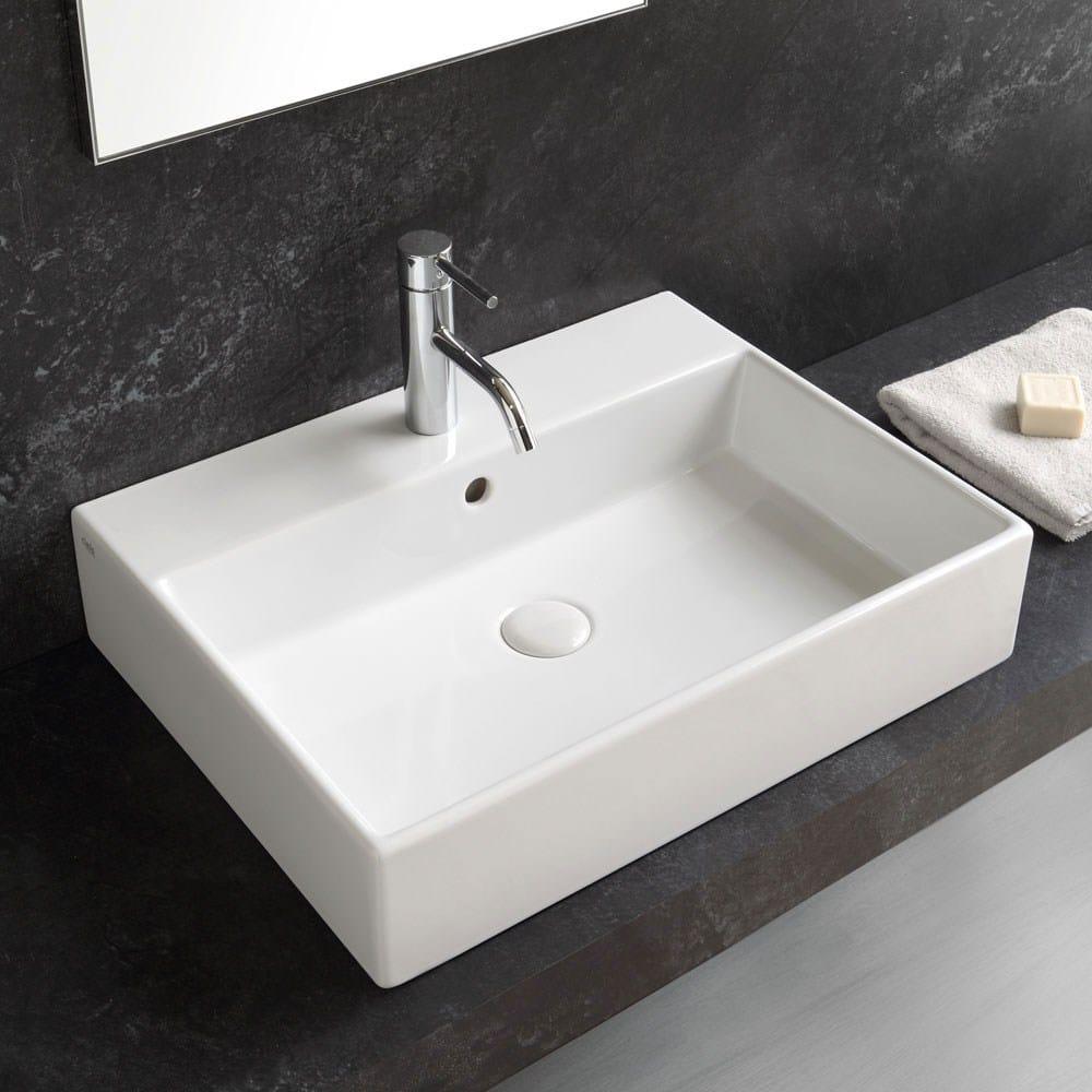 Smile lavabo da appoggio o sospeso by ceramica cielo for Lavabo da appoggio