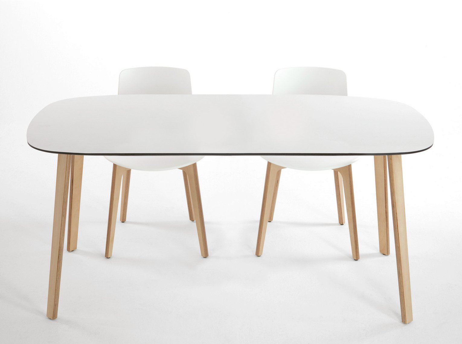 Lottus wood table rectangulaire by enea design lievore for Table ovale avec rallonge salle a manger