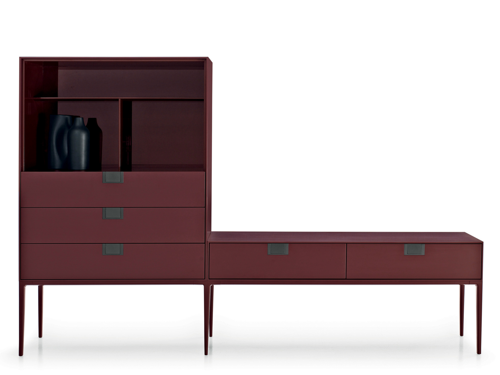 alcor sideboard with drawers by maxalto a brand of b b italia spa design antonio citterio. Black Bedroom Furniture Sets. Home Design Ideas