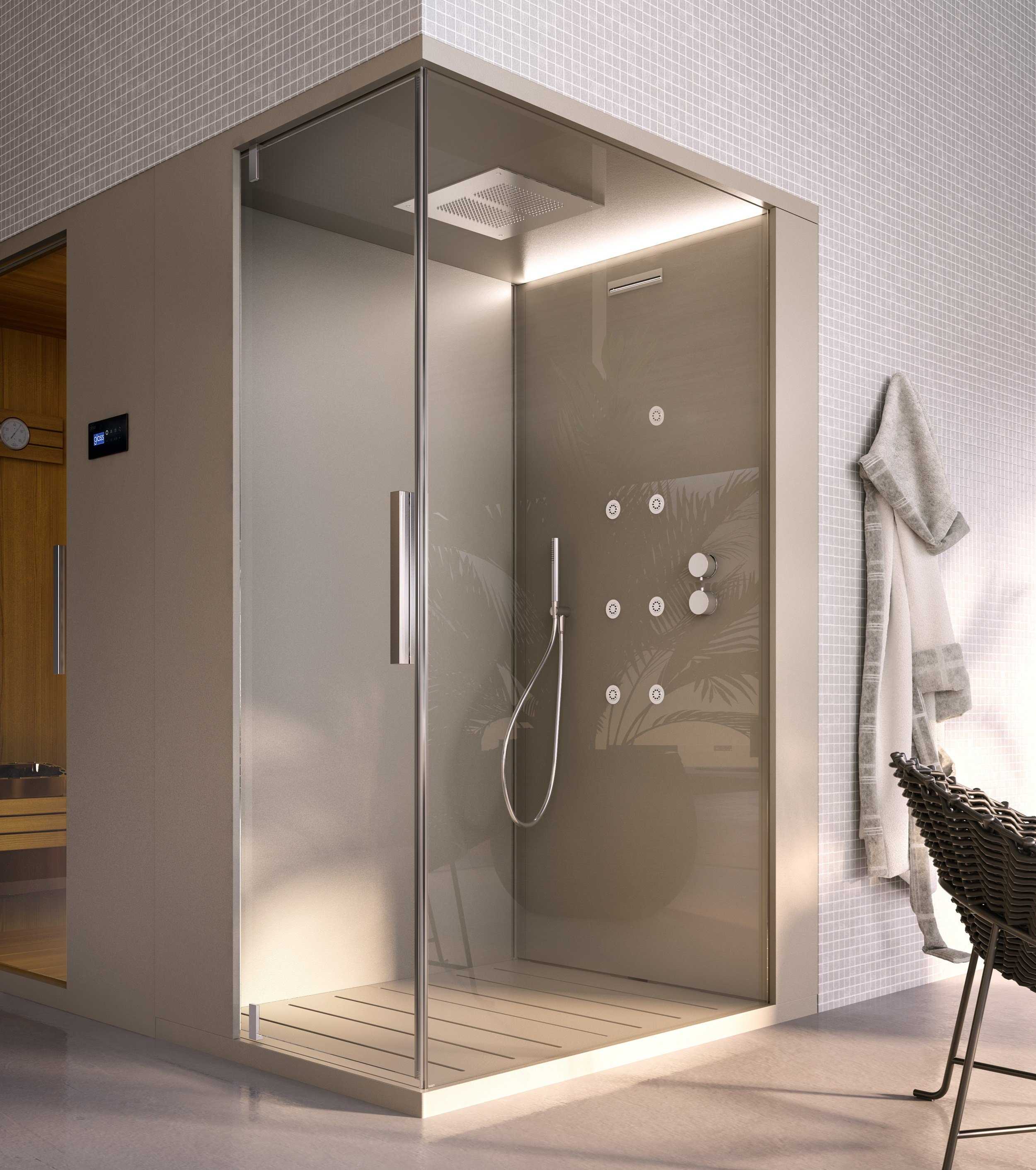 Sauna bagno turco pasodoble by glass 1989 - Bagno turco domestico ...