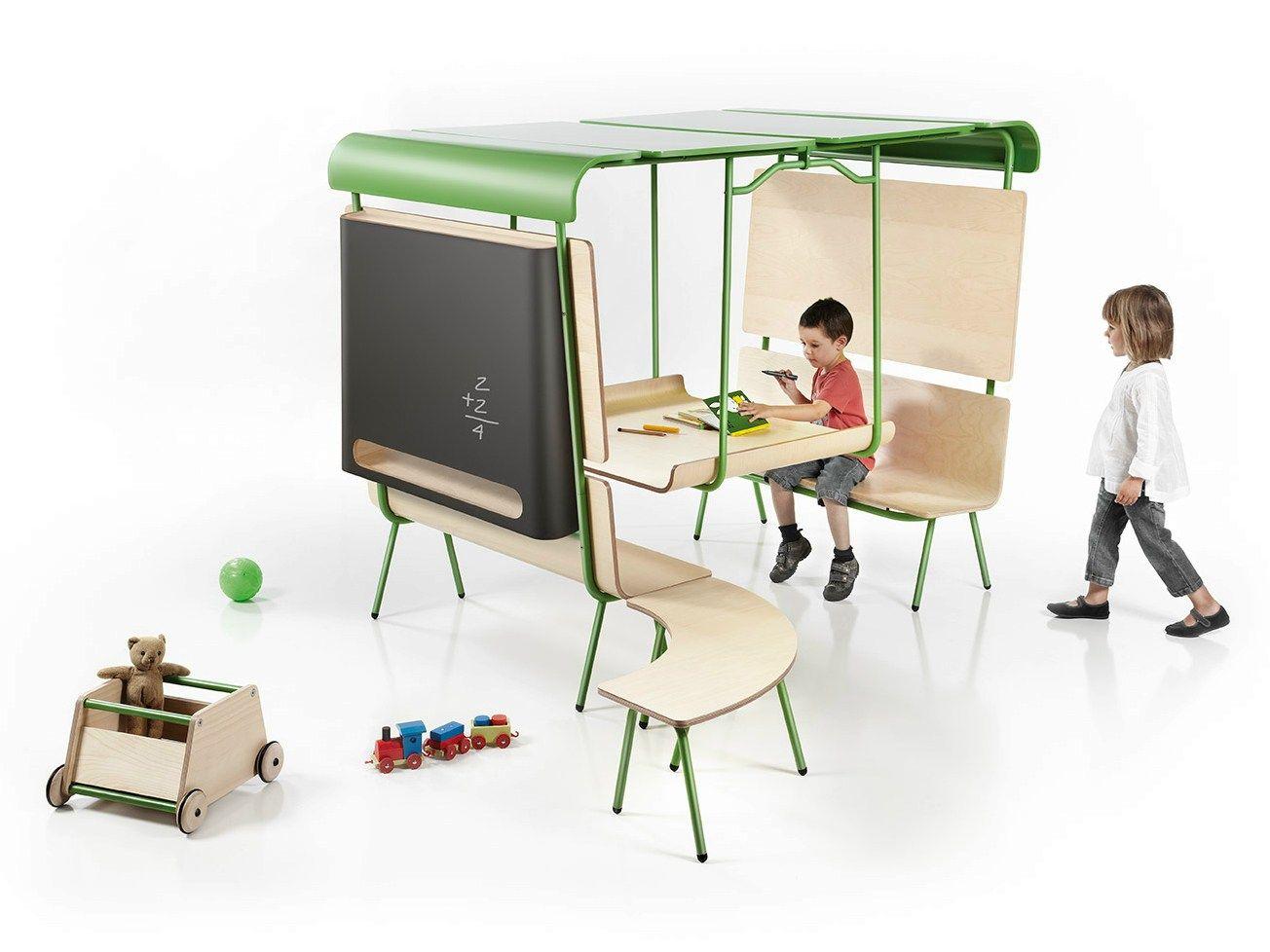 Ottawa kids bench by made design design emiliana design studio for Chaise bureau enfant conforama