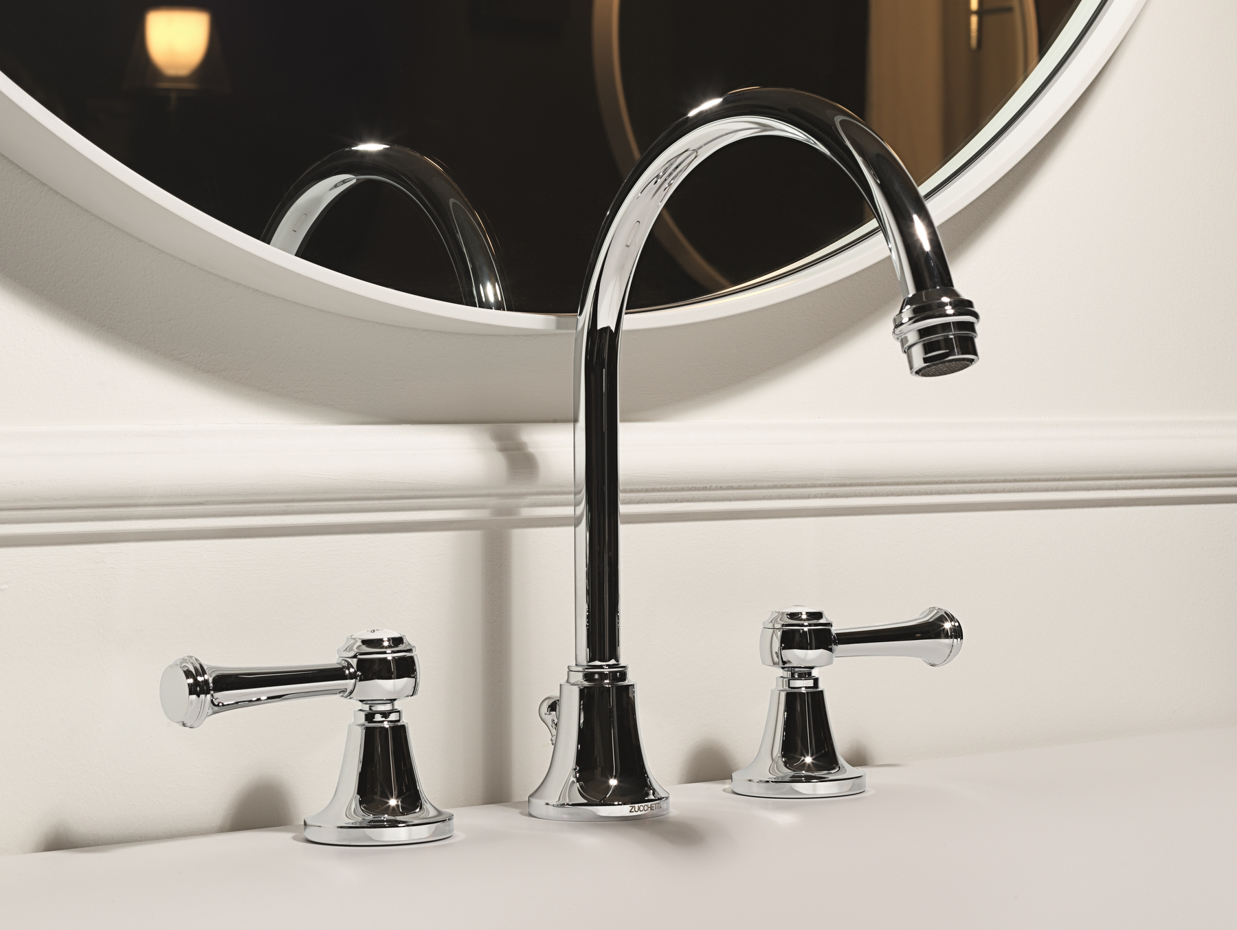 AGORÀ CLASSIC Rubinetto per lavabo cromo by ZUCCHETTI design Ludovica+Roberto Palomba