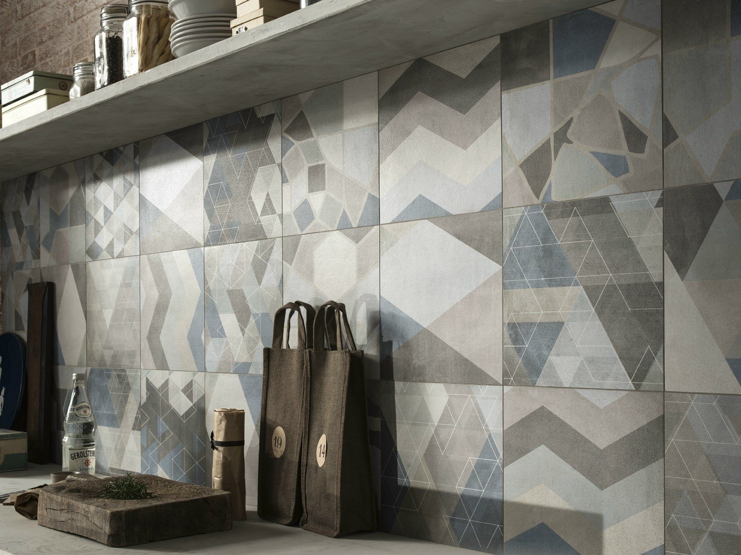 Porcelain stoneware wall floor tiles one cement by for Caesar ceramiche
