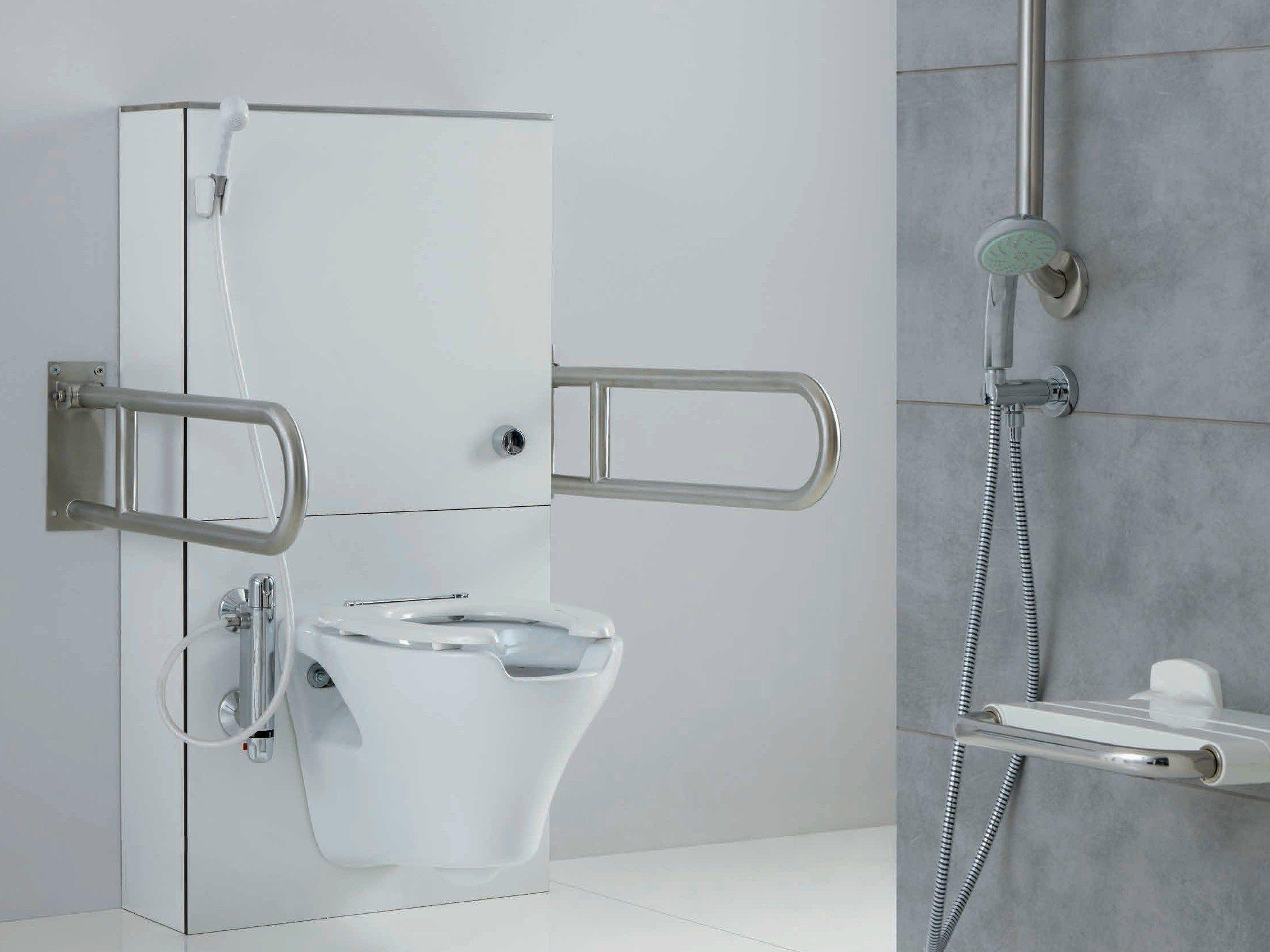 Wc per disabili sospeso in porcellana collezione - Ponte giulio bagno disabili ...