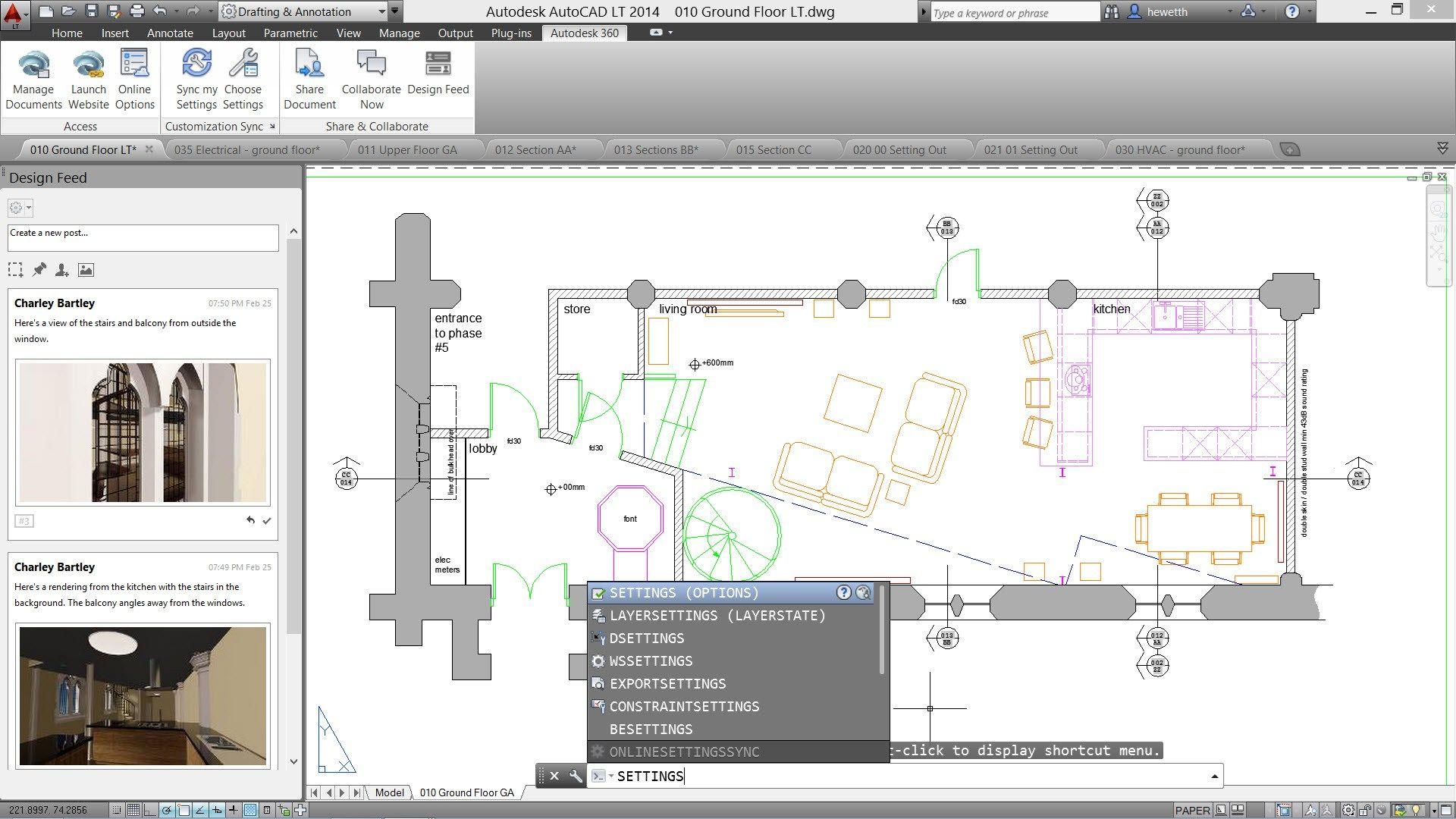 Software cad 2d e 3d autocad lt 2016 by edilclima for Sessel 3d dwg