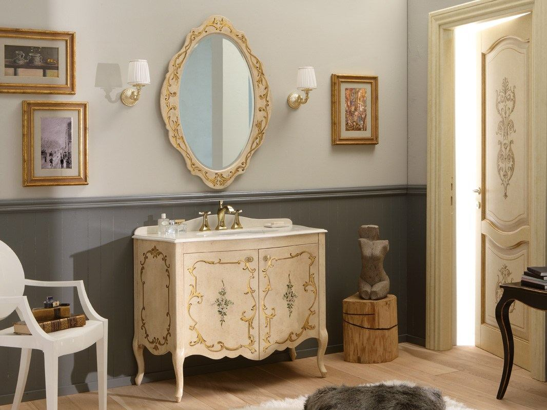 Móvel lavatório de madeira com portas NARCISO DECORATO by LEGNOBAGNO #8E6A3D 1066 799