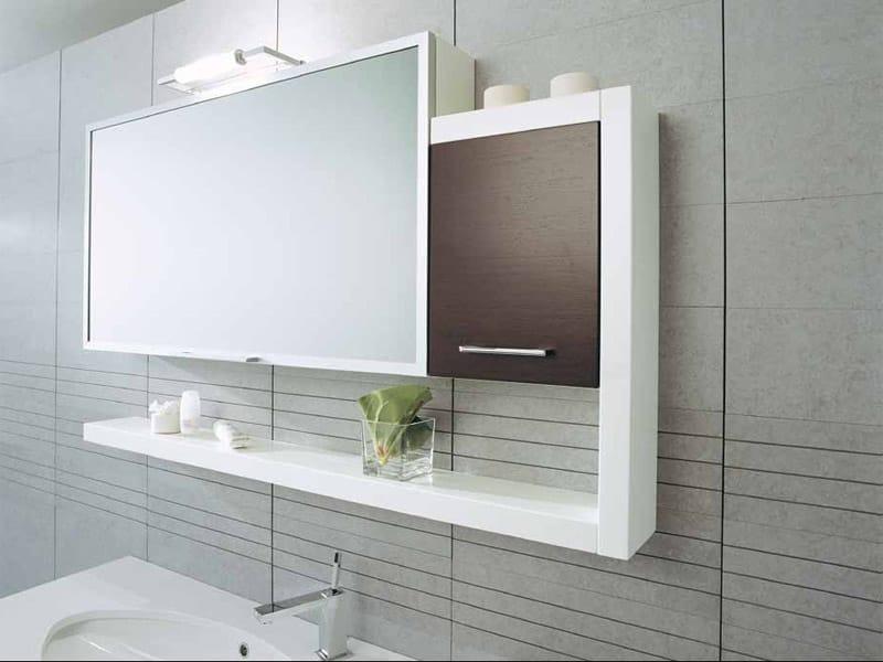 Mobile lavabo sospeso in legno con cassetti genius g203 by legnobagno - Legnobagno prezzi ...
