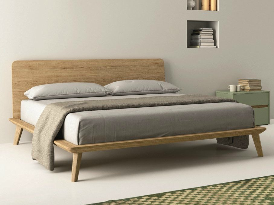 Letto matrimoniale in rovere easy by dall agnese design for Letto matrimoniale design