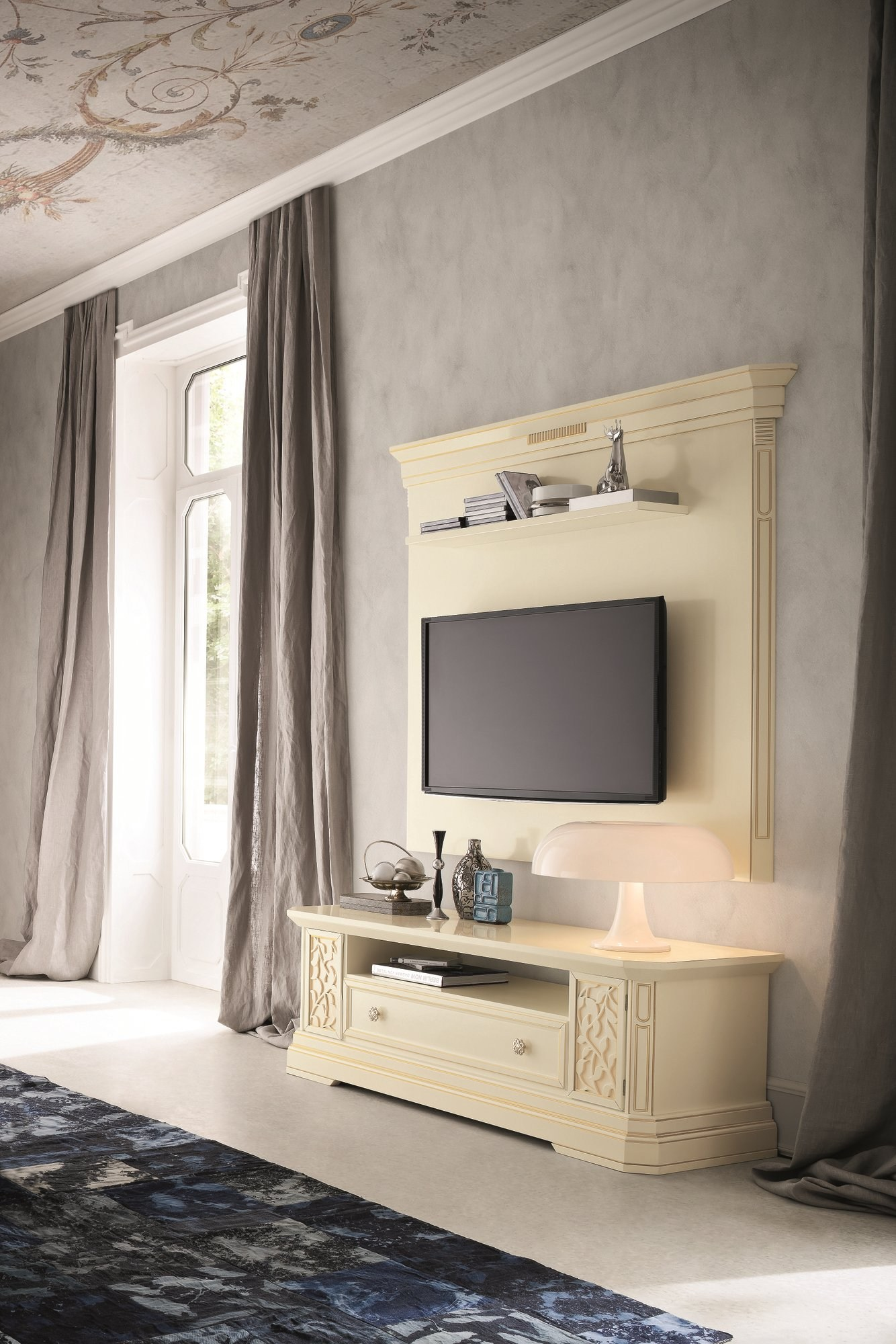 Tiffany mobile tv laccato by dall agnese design imago for Brugnera mobili