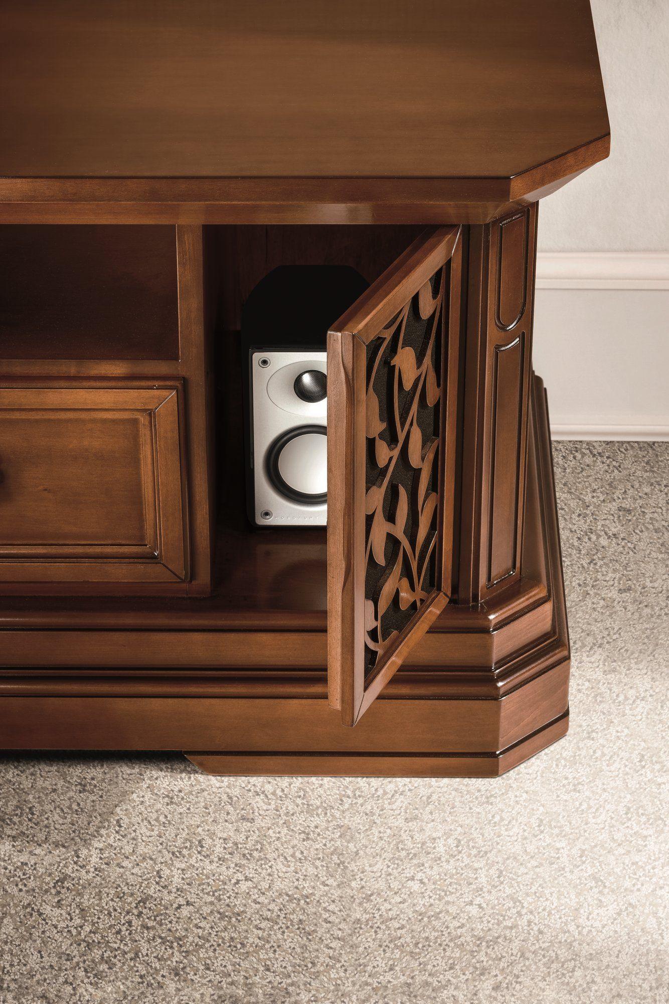 Parete attrezzata componibile in noce con porta tv tiffany collezione tiffany noce by dall - Dall agnese mobili classici ...