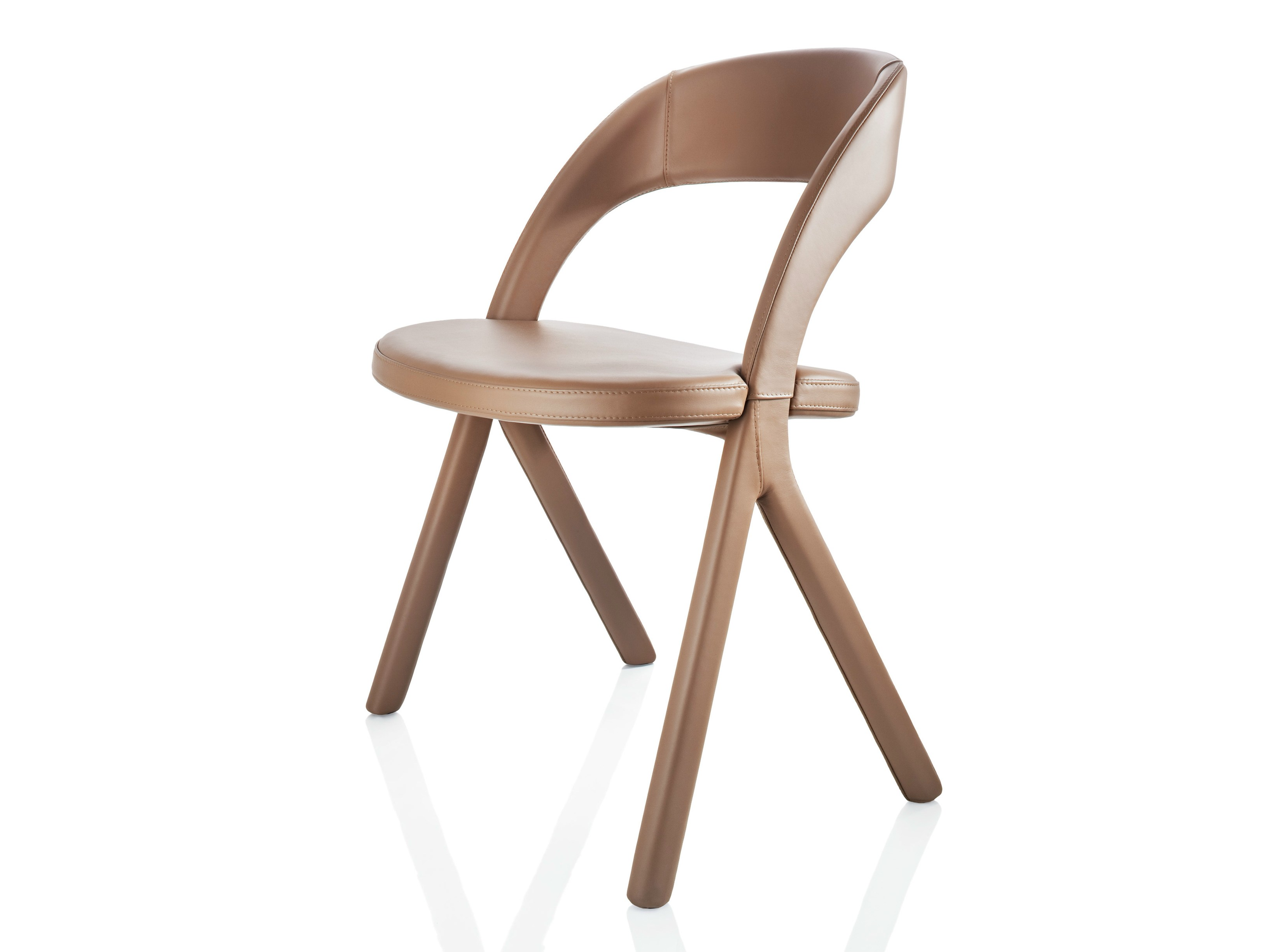 Gesto chaise en cuir by alma design design mario mazzer - Chaise en cuir design ...